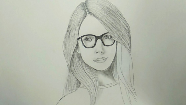 Good Cute Pencil Drawings Easy Pencil Drawing - How To Draw A Cute Female Face Easy Pictures