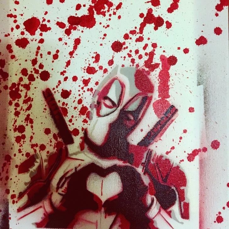 Good Deadpool Stencil Art for Beginners Stencil Artist — My Spray Paint Deadpool Image