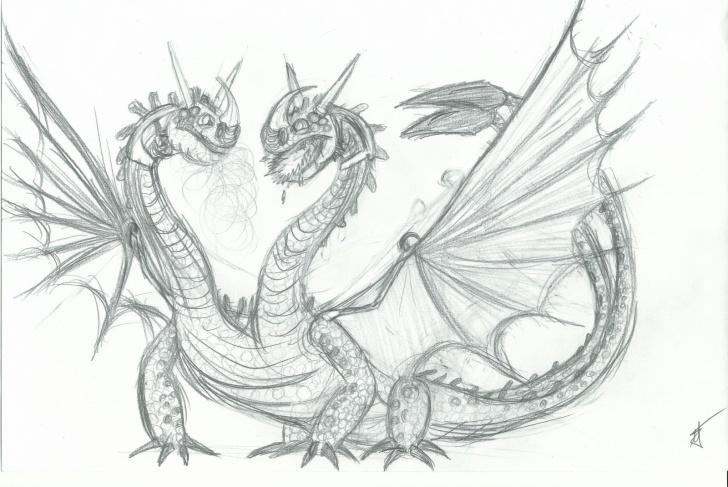 Good Dragon Pencil Art Step by Step Pencil Sketch Of A Dragon And Dragon Pencil Art | School Of Dragons Pics