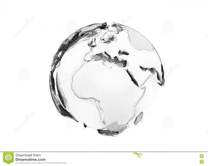 Good Earth Pencil Drawing for Beginners 3D World Globe Digital Pencil Sketch Stock Illustration Pictures