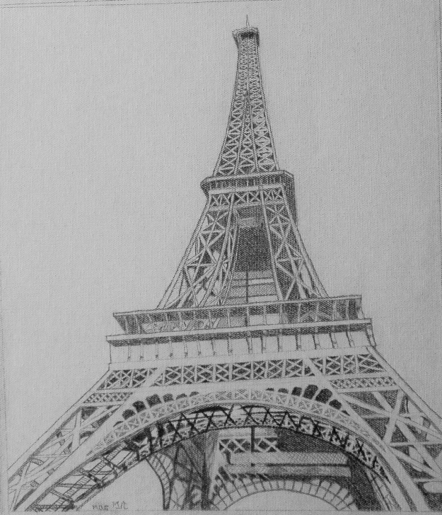 Good Eiffel Tower Pencil Drawing Simple Eiffel Tower Drawing Sketch At Paintingvalley | Explore Pic