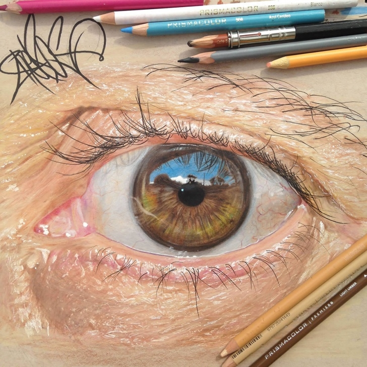 Good Eye Painting Pencil Step by Step Hyperrealistic Eyes Drawn With Colored Pencils | Colossal Picture