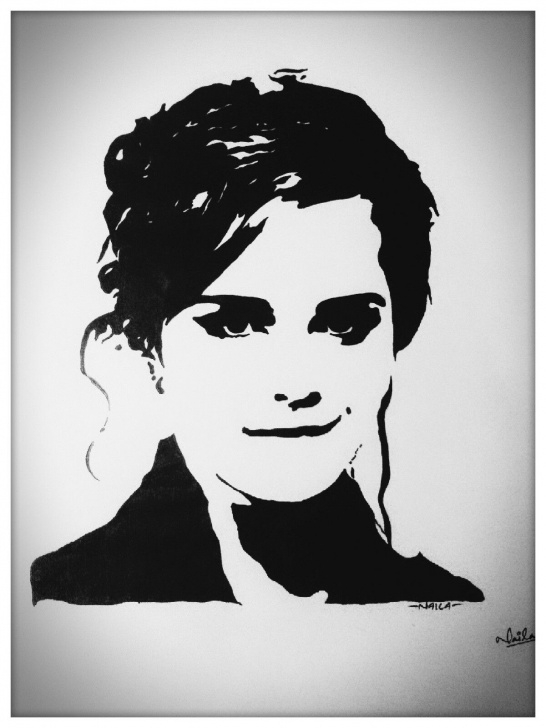 Good Face Stencil Art Lessons Emma Watson Stencil | Craft In 2019 | Mini Canvas Art, Stencil Photos