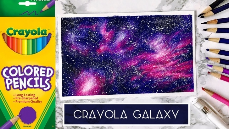 Good Galaxy Drawing Pencil Free Draw A Galaxy With Cheap Coloured Pencils | Crayola Challenge Images