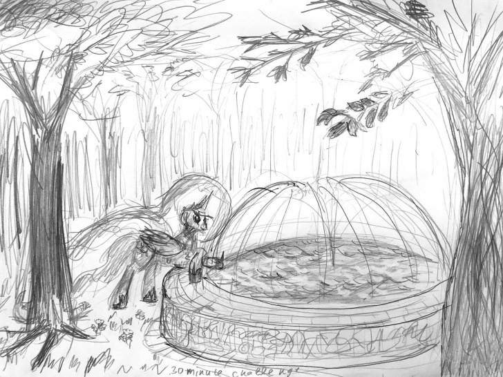 Good Garden Pencil Drawing Tutorials Garden Pencil Sketch And - Minute Art Challenge, Alicorn, Artist:xbi Picture