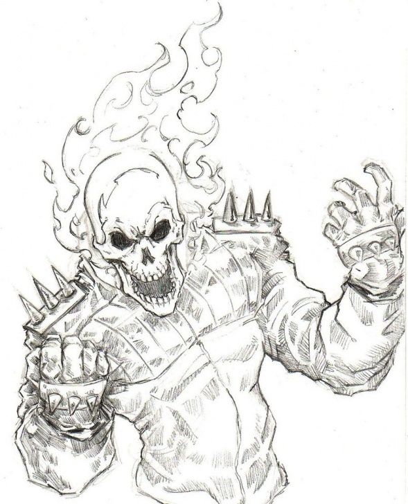 Good Ghost Rider Pencil Sketch Simple Ghost Rider Sketch At Paintingvalley | Explore Collection Of Pic