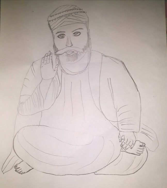 Good Guru Purnima Pencil Sketch Tutorial Guru Drawing At Paintingvalley | Explore Collection Of Guru Drawing Image