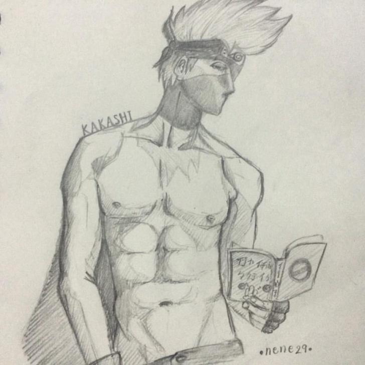 Good Hot Pencil Sketches Tutorial Hot Kakashi #pencil-Drawing #naruto | Nene's Drawing | Pencil Photos