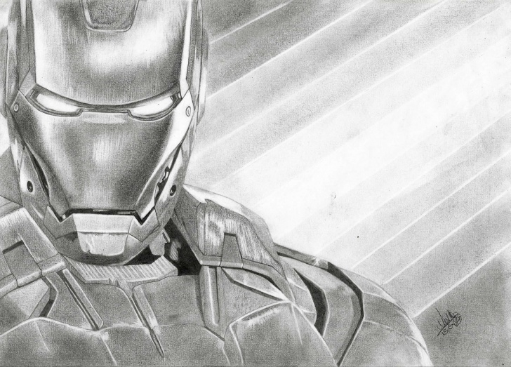 Good Iron Man Pencil Sketch Courses Iron Man Pencil Drawing By Extremegun : Marvel Image
