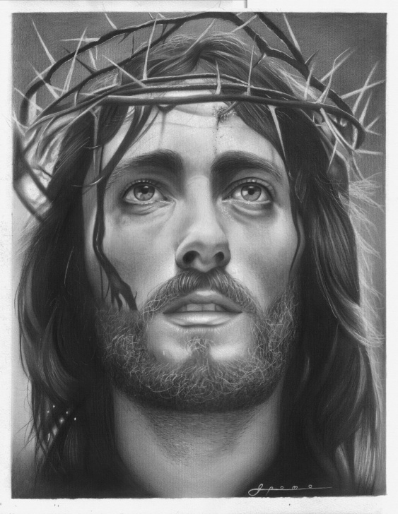 Good Jesus Christ Pencil Sketch Techniques Pencil Drawing Of Jesus Face At Paintingvalley | Explore Photo