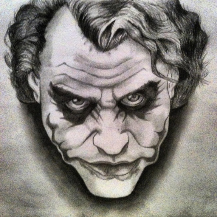 Good Joker Pencil Sketch Courses Pencil Drawing Joker. | Julio César Díaz Sollano | Flickr Photos