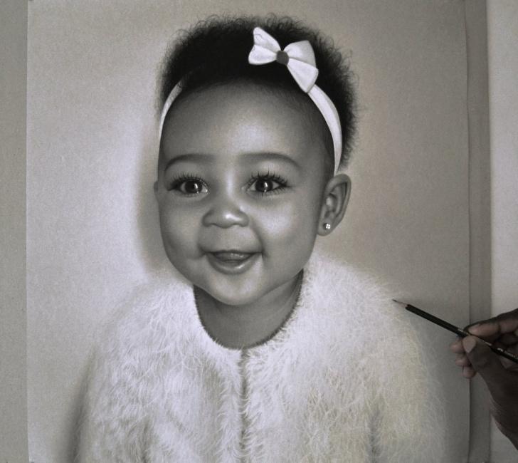 "Good Kelvin Okafor Drawings Techniques Kelvin Okafor On Twitter: ""finishing Touches On This Little Princess Image"