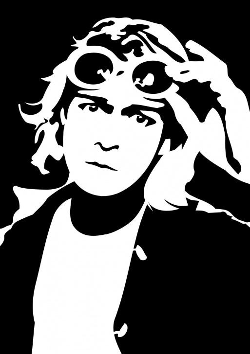 Good Kurt Cobain Stencil Art Techniques Cobain~ | Xo-Echø | Stencil Art, Kurt Cobain Art, Silhouette Art Pics