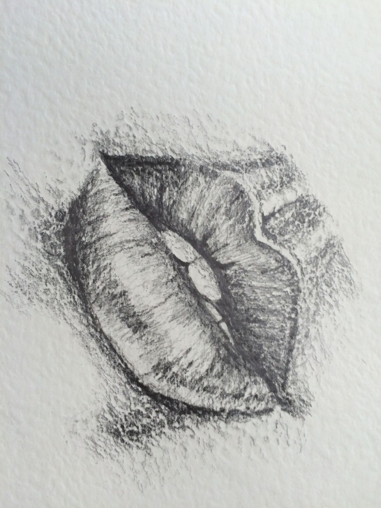 Good Lips Pencil Drawing Techniques for Beginners Kissy Lips Pencil Drawing #lippencildrwaing | Lip Pencil Drwaing In Photo