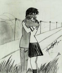 Good Love Couple Pencil Drawing Lessons Pencil Sketches Of Couples In Love Cute Couple Hemant Kandpals Art Image