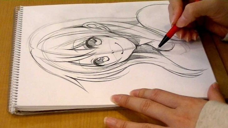 Good Manga Pencil Drawings Techniques for Beginners Morita's Manga Come Back!.drawing Girl's Face By Pencil 01  Seal_Morita_Eihire Image