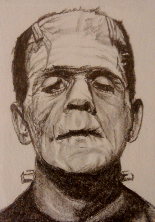 Good Monster Pencil Drawing for Beginners Frankensteins Monster | Monster Art | Pencil Drawings, Monster Art Photo