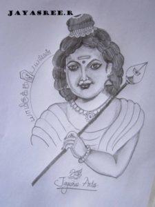 Good Murugan Pencil Drawing Techniques Pencil Sketch Of God Murugan | Desipainters Image