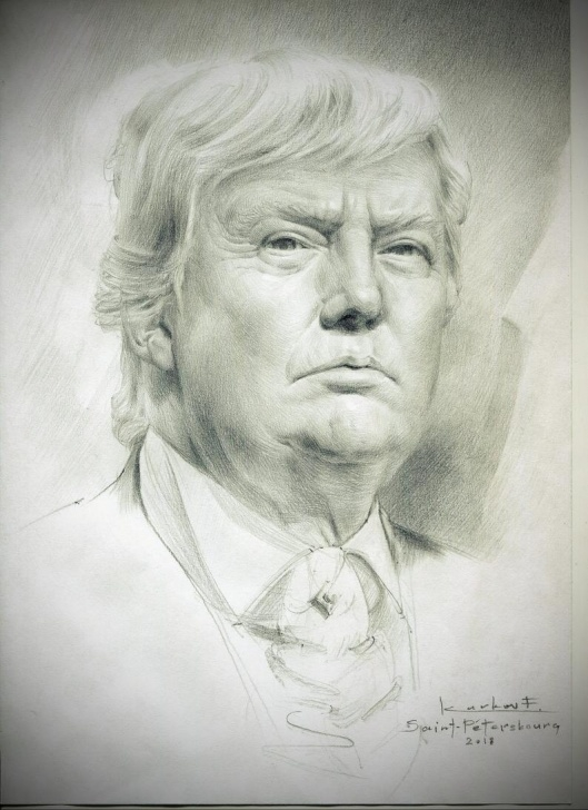 Good Pencil Self Portrait Techniques for Beginners Portrait Of Trump, Academic Drawing, Pencil Drawing, Trump, Portrait To  Order, Portrait From Your Photo, Portrait From Life Picture