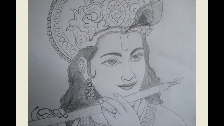 Good Pencil Shade Drawing Of Krishna for Beginners Drawing Krishna - Youtube Pictures
