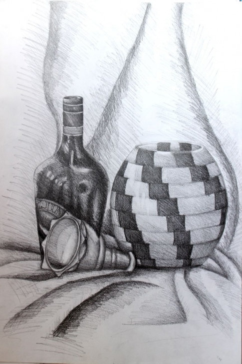 Good Pencil Shade Painting Ideas Still Life Painting With Pencil ✏️ Shade | Still Life Painting In Pictures