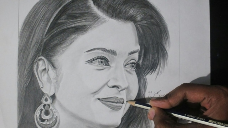 Pencil Sketch Of Aishwarya Rai