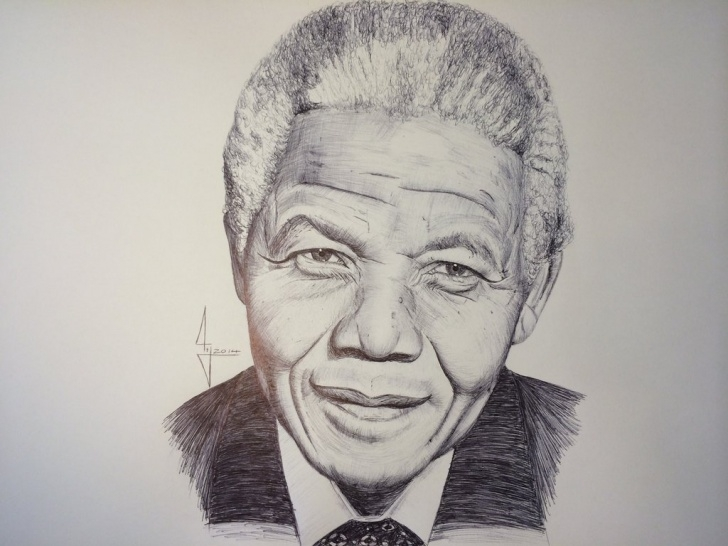 Good Pencil Sketch Of Nelson Mandela Ideas 11+ Impressive Nelson Mandela Sketch Drawing Gallery - Sketch Image