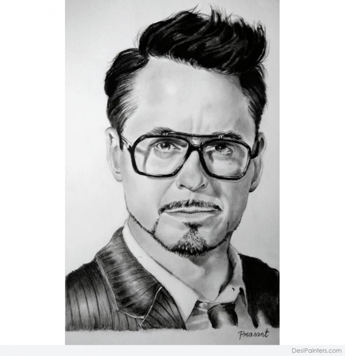 Good Robert Downey Jr Pencil Sketch Tutorial Awesome Pencil Sketch Of Robert Downey Jr | Desipainters Photos