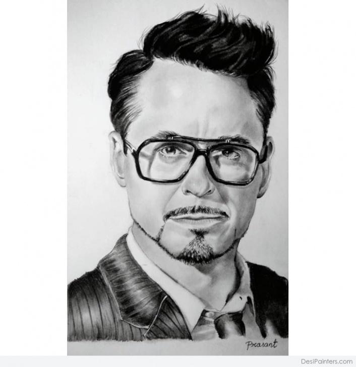Good Robert Downey Jr Pencil Sketch Tutorial Awesome Pencil Sketch Of Robert Downey Jr | Desipainters Photos
