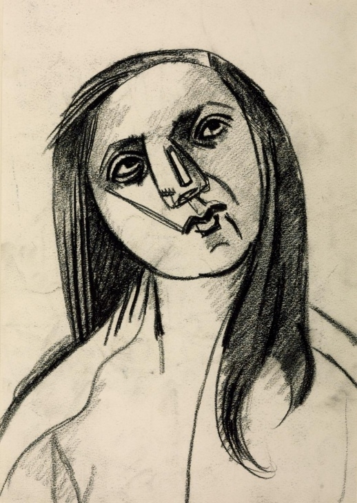 Good Sad Portrait Drawing Techniques Marie-Thérèse Sad', Julio González, 1942 | Tate Photo
