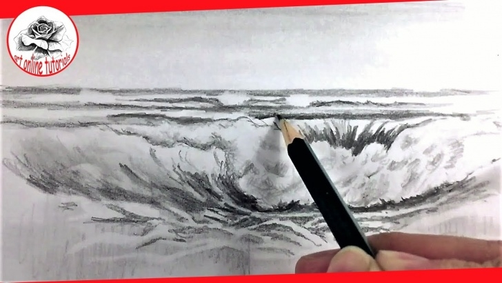 Good Sea Pencil Drawing Lessons How To Draw Sea Waves With Pencil Drawing Techniques Image