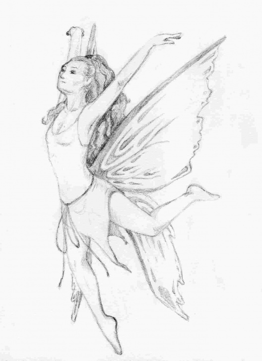 Good Simple Pencil Drawings Of Fairies Free Simple Sketches Of Fairies Pic