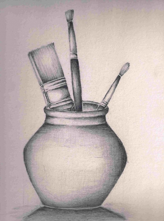 Good Simple Still Life Drawing Tutorial Simple Still Life Drawings In Pencil Kids | Drawing Work Photos