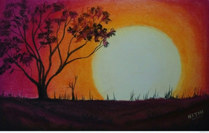 Good Sunset Pencil Sketch Easy Sunset Sketch At Paintingvalley | Explore Collection Of Sunset Images