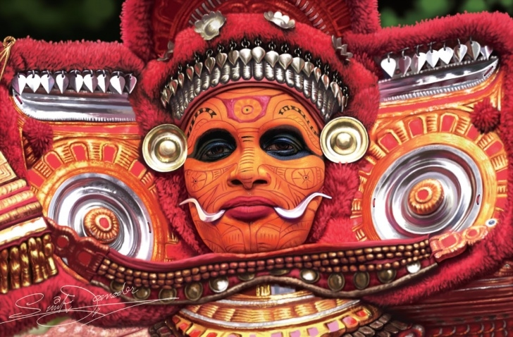 Good Theyyam Pencil Drawing Techniques Paintings For Sunil Damodaran: The Theyyam(Theyyattam)Popular Hindu Pictures