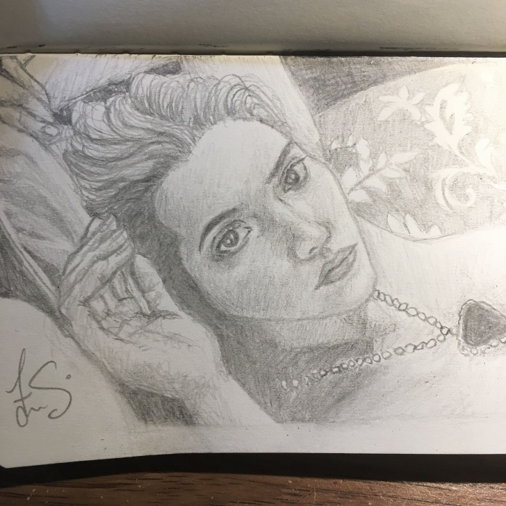 Good Titanic Pencil Drawing Lessons Pencil Sketch Of Rose (Kate Winslet) From Titanic | Titanic Photos