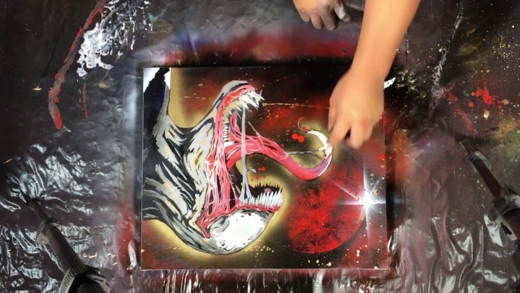 Good Venom Stencil Art Techniques for Beginners How To Spray Paint Venom (With Stencil) Pic