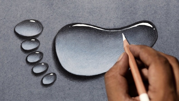 Good Water Drop Pencil Drawing Step by Step Draw Water Drops In 3 Easy Steps! Water Drop Drawing Tutorial. Photo