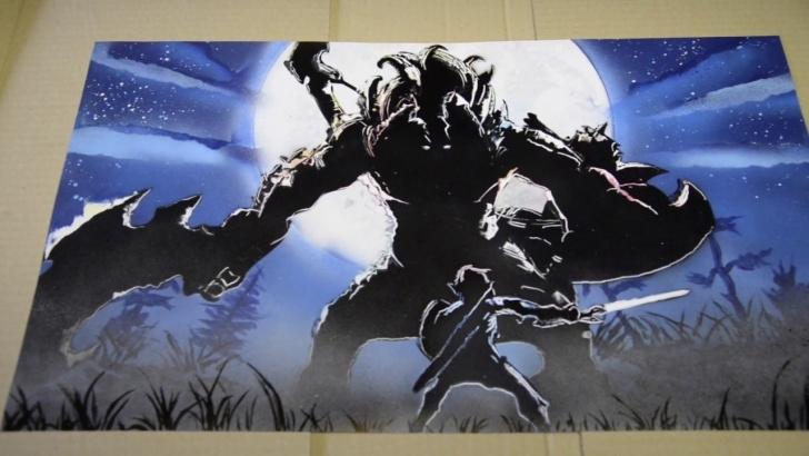 Good Zelda Stencil Art Easy Zelda - Spray Painting Art Pic
