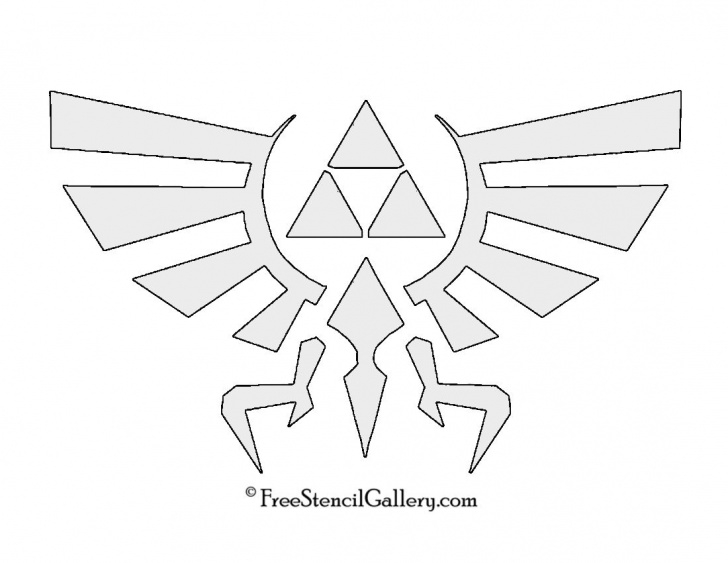 Good Zelda Stencil Art Ideas The Legend Of Zelda - Triforce Symbol Stencil | Symbols In 2019 Pic