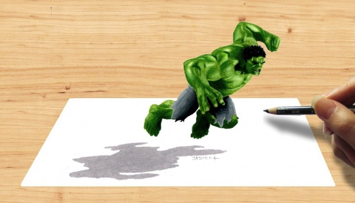 Gorgeous 3D Pencil Sketch Ideas 3D Pencil Drawing: Hulk Avengers Age Of Ultron - Speed Draw Pics