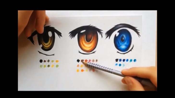 Gorgeous Anime Eyes Pencil for Beginners How To Color Using Colored Pencils (Manga Eyes ) Photos