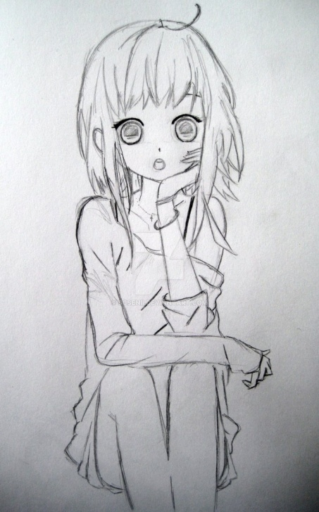 Gorgeous Anime Love Sketch Simple Anime Girl In Love Sketch By Scsenii On Deviantart Images