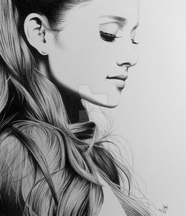 Beautiful Girl Pencil Sketch