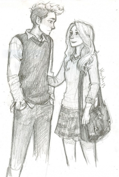 Gorgeous Best Couple Sketch Easy Friendship Drawing Sketch - Google Search | Meenus In 2019 Photos