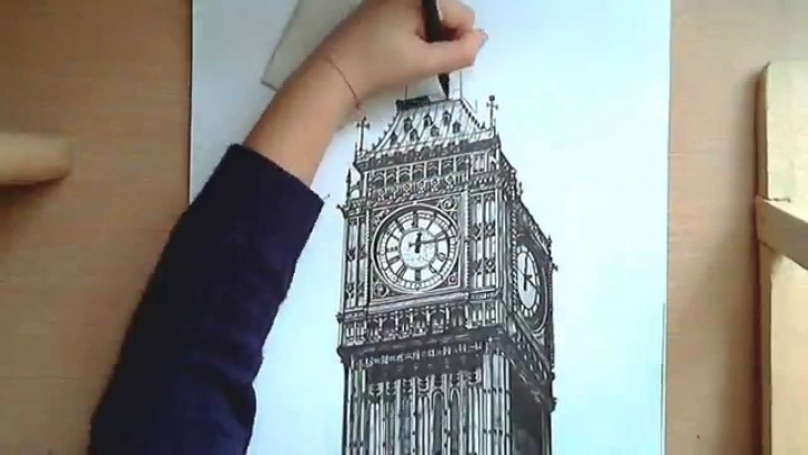 Gorgeous Big Ben Pencil Drawing Lessons Realistic Drawing: Big Ben Images