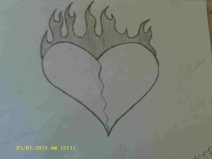 Gorgeous Broken Heart Drawings In Pencil Lessons Broken Heart Drawings In Pencil At Paintingvalley | Explore Picture