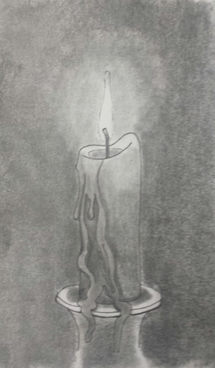 "Gorgeous Candle Pencil Drawing Lessons Candle Melt"" - Pencil Sketch (Aug'14) 