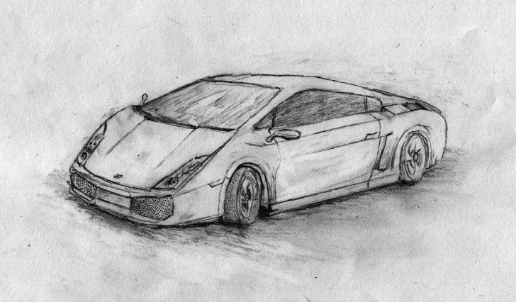 Gorgeous Car Pencil Sketch Drawing Courses 3D Car Sketch At Paintingvalley | Explore Collection Of 3D Car Pictures