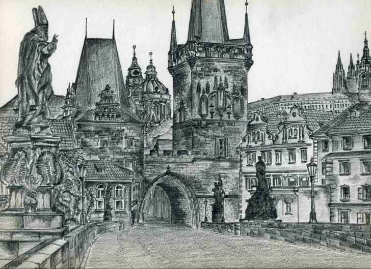 Gorgeous Castle Pencil Drawing Courses Castle Drawings For Inspiration And Fun Pic